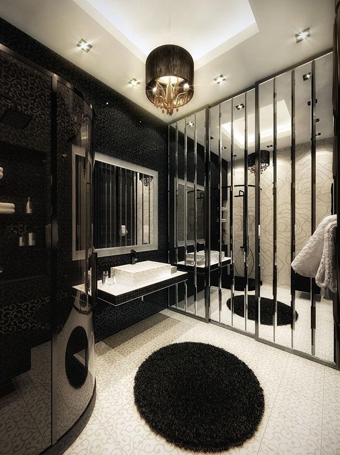 Ванная комната в квартире ЖК Аксиома