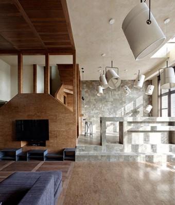 Дизайн интерьера двухэтажной квартиры от Пётра Костёлова