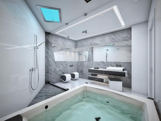 Ванная комната в квартире ЖК Аксиома  Дизайнерские ванные комнаты от студии Geometrix Design 1 32