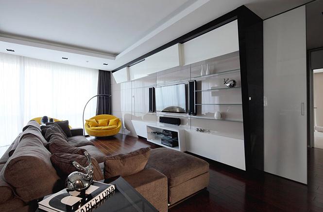 Дизайн интерьера московской квартиры от Geometrix Design