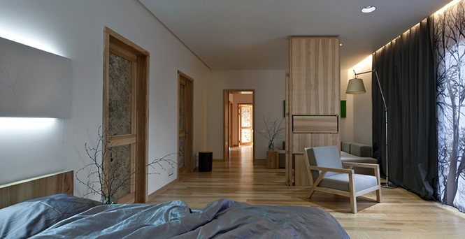 Архитекторское бюро Ryntovt Design представило интересный проект в Днепропетровске, Украина Дом для Жизни — это частная резиденция площадью 270 кв.м., рассчитанная на семью