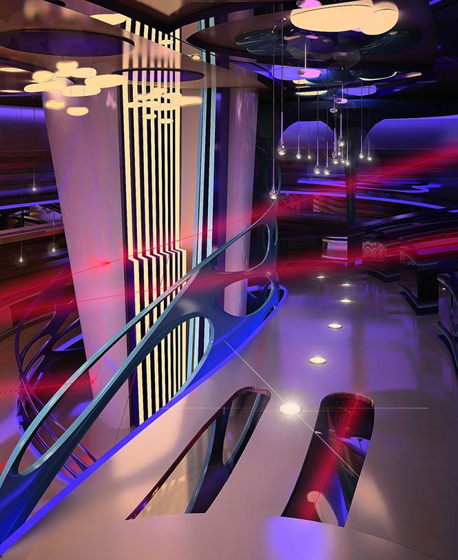 Своим проектом дизайна интерьера лазерного пейнтбольного клуба с нами поделилась Светлана Прохорова, став 33-им участником Архиконкурса 2012.    Конкурсная работа Светланы Прохоровой, Сочи, Россия                                                                                               3