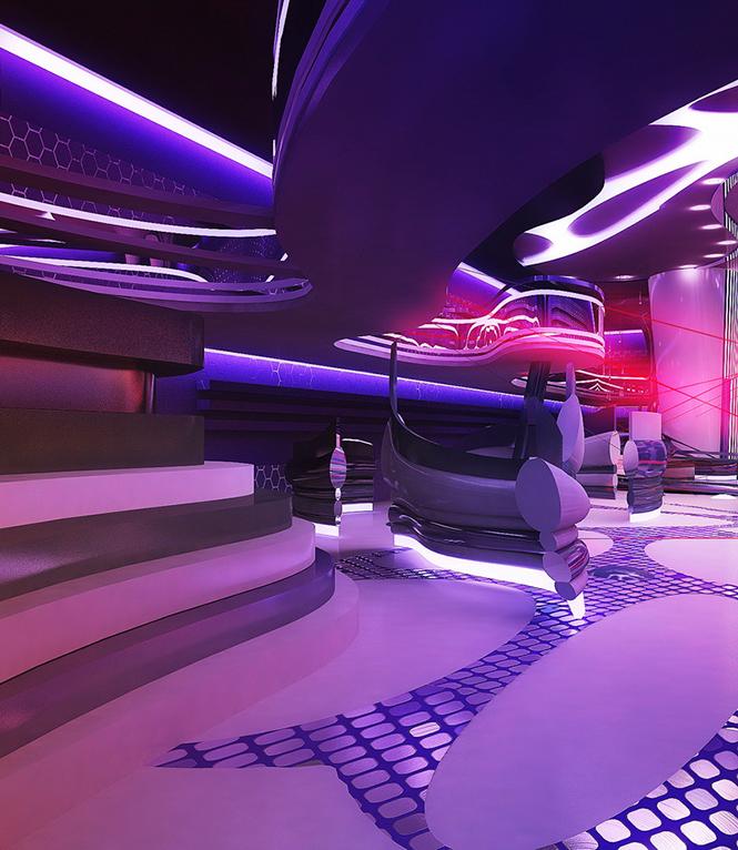 Своим проектом дизайна интерьера лазерного пейнтбольного клуба с нами поделилась Светлана Прохорова, став 33-им участником Архиконкурса 2012.    Конкурсная работа Светланы Прохоровой, Сочи, Россия                                                                                               4