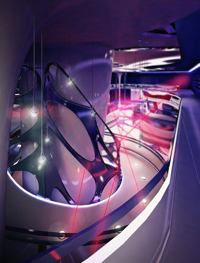 Своим проектом дизайна интерьера лазерного пейнтбольного клуба с нами поделилась Светлана Прохорова, став 33-им участником Архиконкурса 2012.    Конкурсная работа Светланы Прохоровой, Сочи, Россия                                                                                               6
