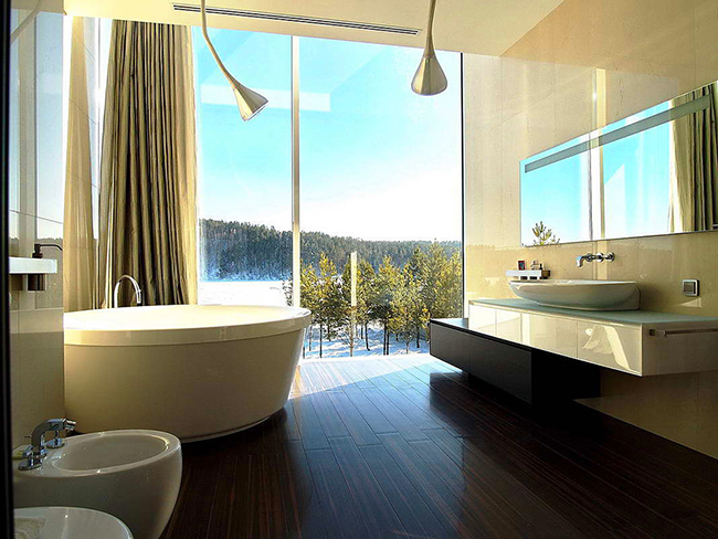 Архитектор Андрей Тигунцев (Andrey Tiguntsev) представил потрясающий проект стеклянный дом.    стеклянный дом в Иркутской области - Андрей Тигунцев                                                                  11
