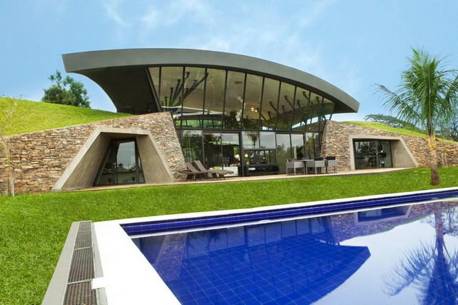 Два дома в Луке (Two Homes in Luque) в Парагвае от BAUEN. В этом проект авторы пытаются найти защищённое пространство для человека с учётом топографии, растительности и тропического климата, предлагая реальное биоклиматическое решение, обращающееся к традиционному для Парагвая образу жизни в гармонии с окружающей средой.  Два дома в Луке (Two Homes in Luque) в Парагвае от BAUEN                             Two Homes in Luque                          BAUEN 11
