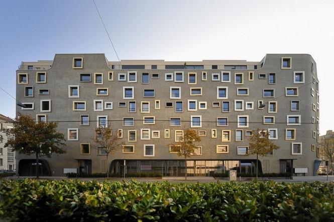 Архитектурное бюро Camenzind Evolution в плотном сотрудничестве со своим клиентом, компанией Swiss Life, создали уникальный проект жилого комплекса на 45 индивидуальных квартир. Основной задачей было разработать квартиры, которые бы обладали индивидуальностью  Жилой Дом с Нескучными Фасадами от Camenzind Evolution                                                                 Camenzind Evolution 8