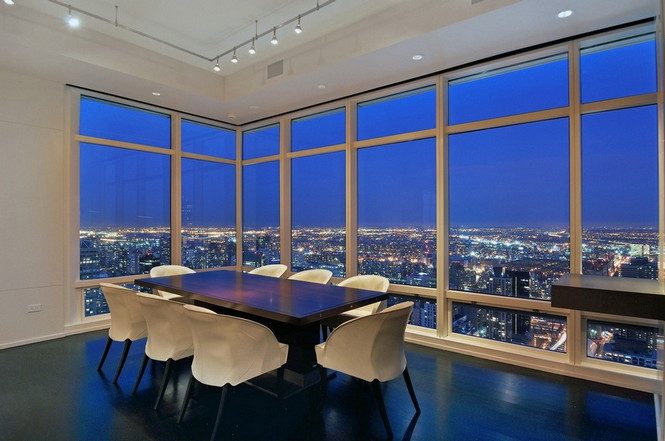 Представленный пентхаус расположен на 42 этаже Башни Блумберга (Bloomberg Tower) в центре Манхэттена, Нью-Йорк, США.  Пентхаус в Башне Блумберга на Манхэттене от Сюзаны Ловелл                                                                                                            1