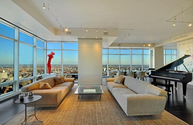 Представленный пентхаус расположен на 42 этаже Башни Блумберга (Bloomberg Tower) в центре Манхэттена, Нью-Йорк, США.  Пентхаус в Башне Блумберга на Манхэттене от Сюзаны Ловелл                                                                                                            9