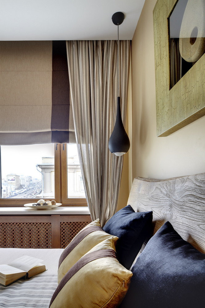 Интерьер данной квартиры в Москве спроектирован и реализован студией Однушечка Площадь резиденции составляет 67 кв.м и рассчитана она на семью из двух человек  Уютная квартира в Москве от студии Однушечка                                                                                    12