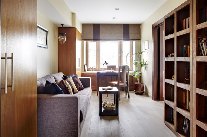 Интерьер данной квартиры в Москве спроектирован и реализован студией Однушечка Площадь резиденции составляет 67 кв.м и рассчитана она на семью из двух человек  Уютная квартира в Москве от студии Однушечка                                                                                    14