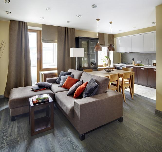 Интерьер данной квартиры в Москве спроектирован и реализован студией Однушечка Площадь резиденции составляет 67 кв.м и рассчитана она на семью из двух человек  Уютная квартира в Москве от студии Однушечка                                                                                    3