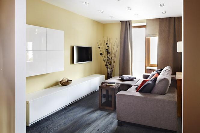 Интерьер данной квартиры в Москве спроектирован и реализован студией Однушечка Площадь резиденции составляет 67 кв.м и рассчитана она на семью из двух человек  Уютная квартира в Москве от студии Однушечка                                                                                    9
