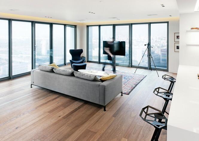 Проектное бюро GammaArc Group представило проект TLV Apartments3 Современные апартаменты площадью 150 кв метров расположены на 22 этаже одной из высоток в Тель-Авиве  Апартаменты в Тель-Авиве от GammaArc Group                                                    GammaArc Group 10
