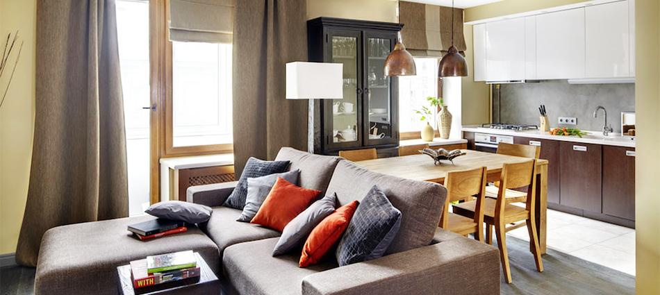 Дизайн однокомнатной квартиры: уютная квартира Oднушечки в Mоскве slider24