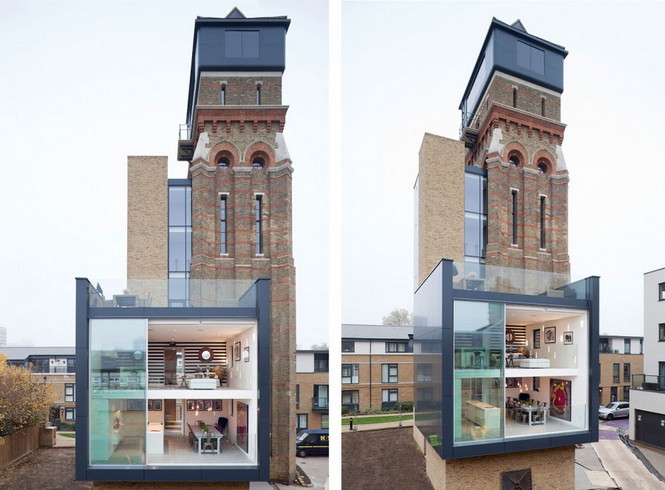 Готическая водонапорная башня в Лондоне построена в 1877 году была куплена и превращена в роскошный дом, который имеет четыре спальни с прекрасным видом Лондона.  Готическая водонапорная башня превратилась в роскошный дом                                                                                                                2