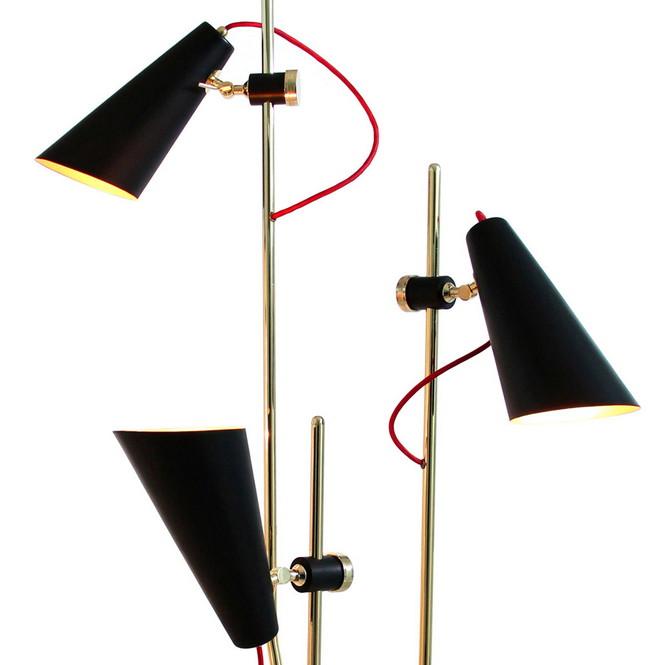 Напольный светильник Evans от эксклюзивного португальского бренда Delightfull — это идея, вдохновлённая 60-ми годами прошлого века.