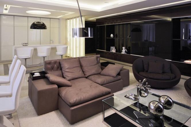 Российские дизайнеры интерьера из дизайн-бюро Geometrix Design создали свой очередной проект в престижном жилом комплексе  «Жилой квартал Шуваловский PRIMA» в Москве.  Роскошные московские апартаменты в жилом квартале Шуваловский                                                                                                                      2