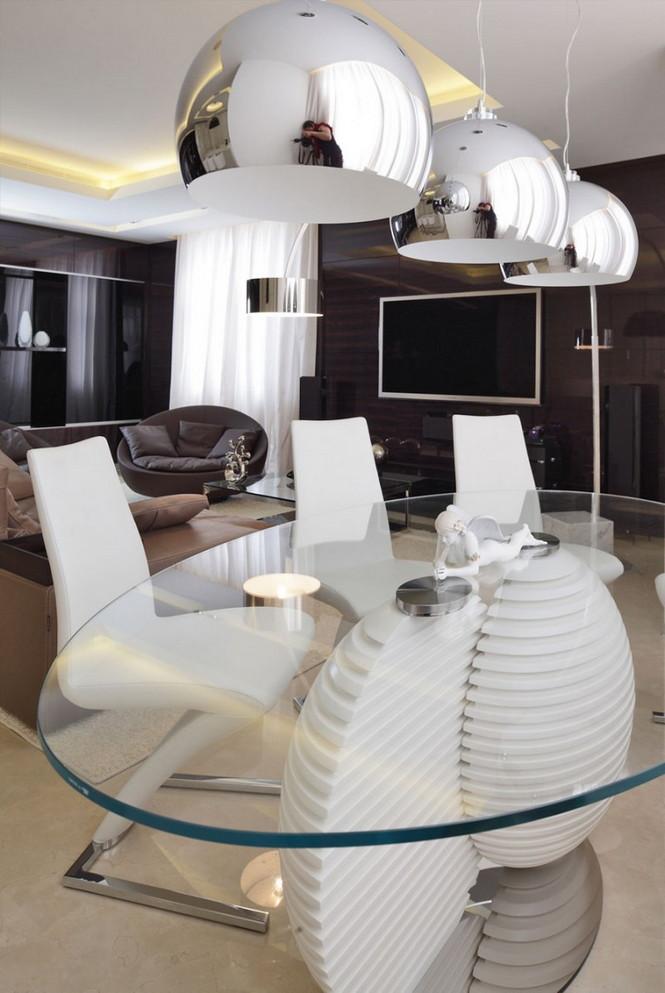 Российские дизайнеры интерьера из дизайн-бюро Geometrix Design создали свой очередной проект в престижном жилом комплексе  «Жилой квартал Шуваловский PRIMA» в Москве.  Роскошные московские апартаменты в жилом квартале Шуваловский                                                                                                                      4