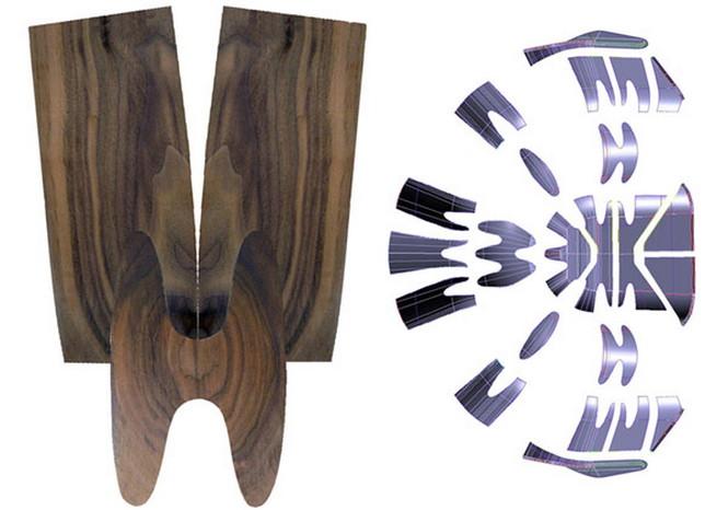 """Английский дизайнер Тони О'Нилла (Tony O'Neill) разработал и создал удивительно стильное кресло из древесины грецкого ореха, названное им """"Walnut Shell Seat""""."""
