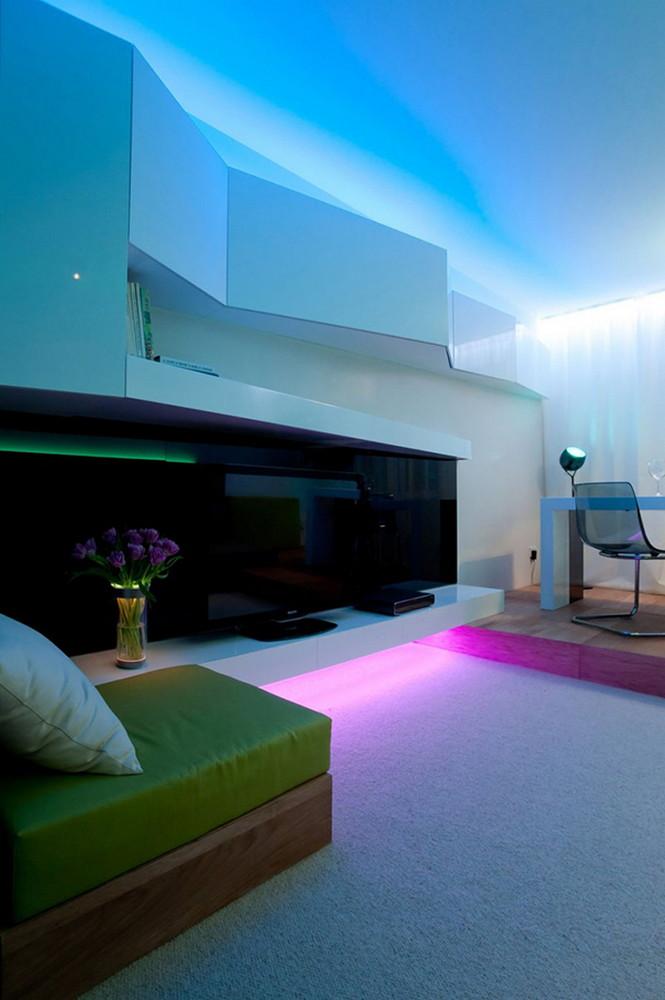 Архитектурное бюро SL Project предлагает различные цветовые эффекты для освещения комнат любых квартир для того, чтобы сделать жизнь ещё ярче.