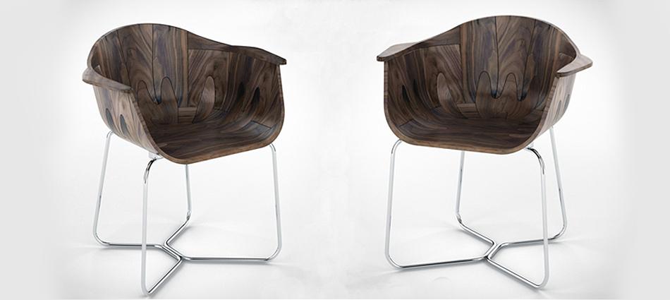 Стильное лондонское кресло из древесины грецкого ореха slider16