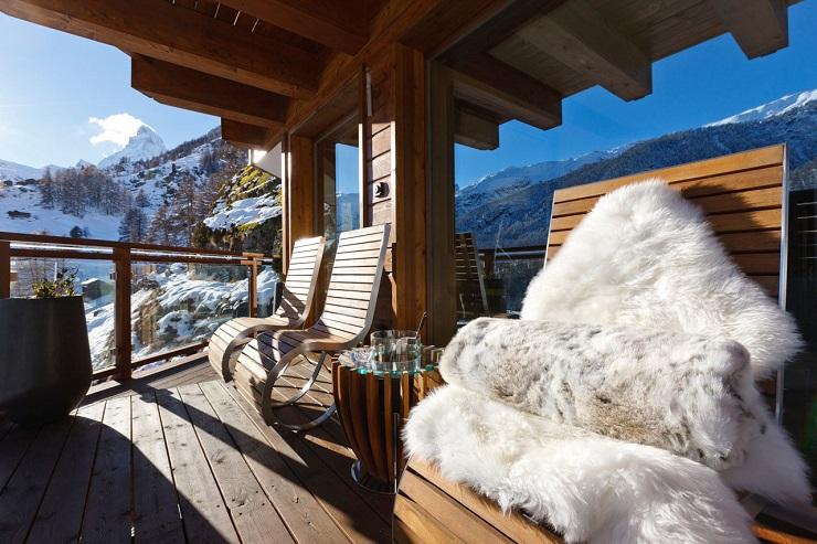 Шестизвёздочное шале в швейцарских альпах Exclusivist Chalet Zermatt Peak by Paul Bowyer 12