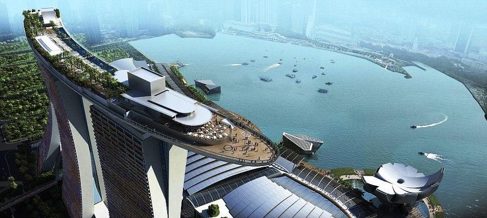 Сингапурский отель-корабль Marina Bay Sands Singapore a101