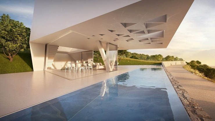 Вилла F от архитектурного бюро Hornung and Jacobi Architecture 055