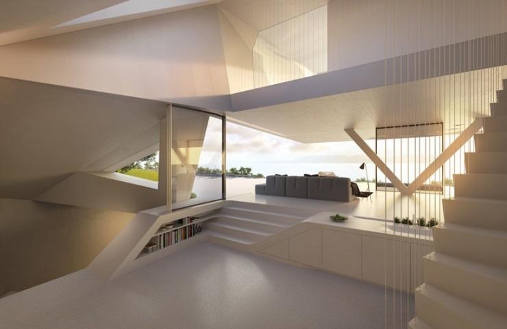 Вилла F от архитектурного бюро Hornung and Jacobi Architecture 556a61
