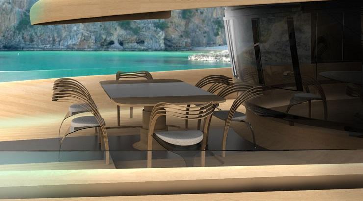 Яхта Cronos - экологичность и футуризм от итальянских дизайнеров Cronos Yacht Design Concept20