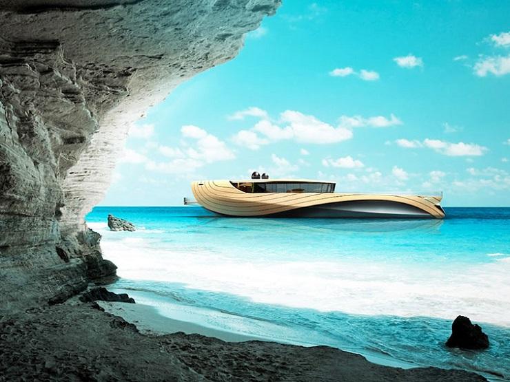 Яхта Cronos - экологичность и футуризм от итальянских дизайнеров DZGN CRONOS by Simone Madella and Lorenzo Berselli 1