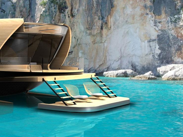 Яхта Cronos - экологичность и футуризм от итальянских дизайнеров DZGN CRONOS by Simone Madella and Lorenzo Berselli 2