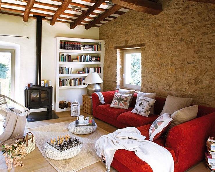 Уютный стиль кантри в домашнем интерьере campo47 6g