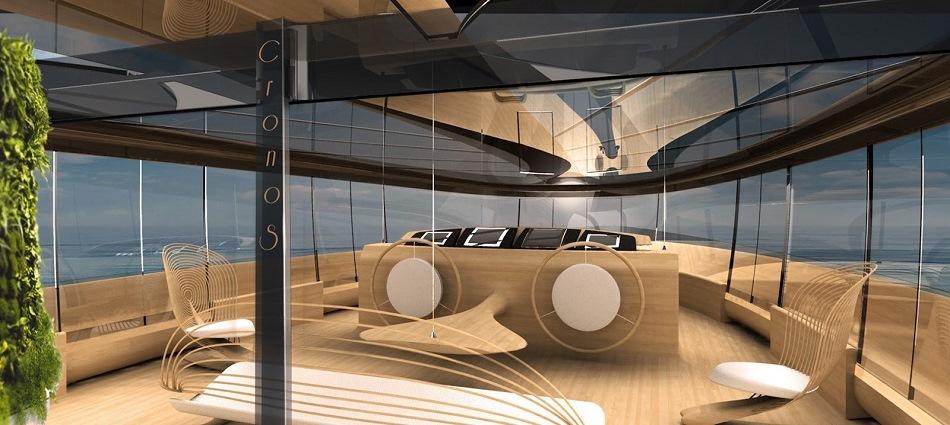 Яхта Cronos – экологичность и футуризм от итальянских дизайнеров feat1