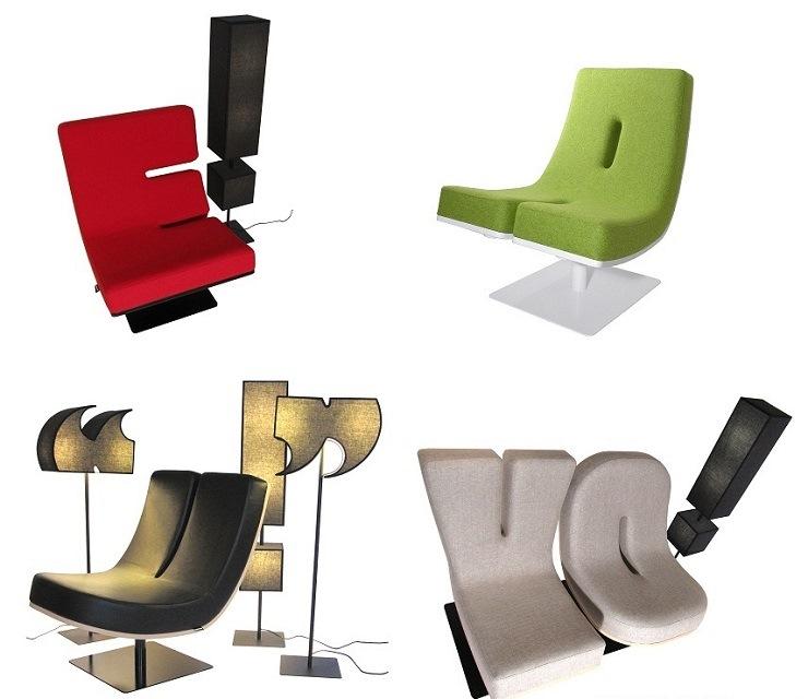 Коллекция мебели от французской компании Tabisso – алфавит и цифры TABISSO Quad