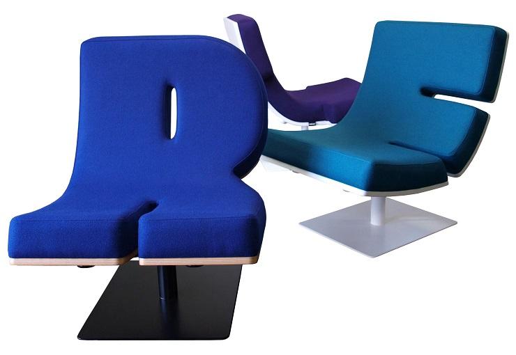 Коллекция мебели от французской компании Tabisso – алфавит и цифры Typographic Tabisso 12