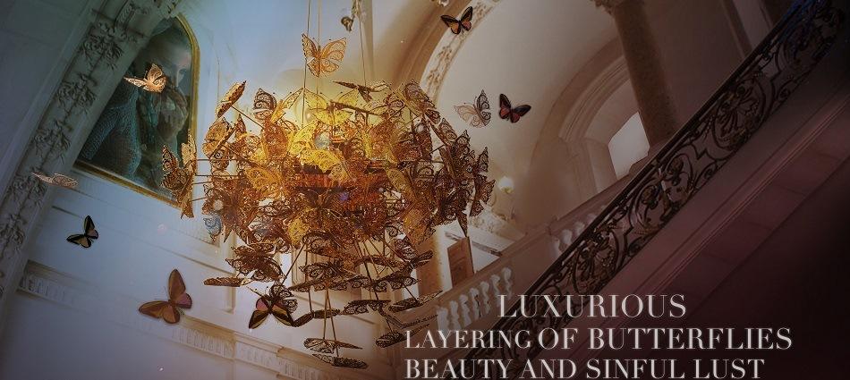 Бабочки в интерьере – от элегантной ширмы до роскошной люстры nymph