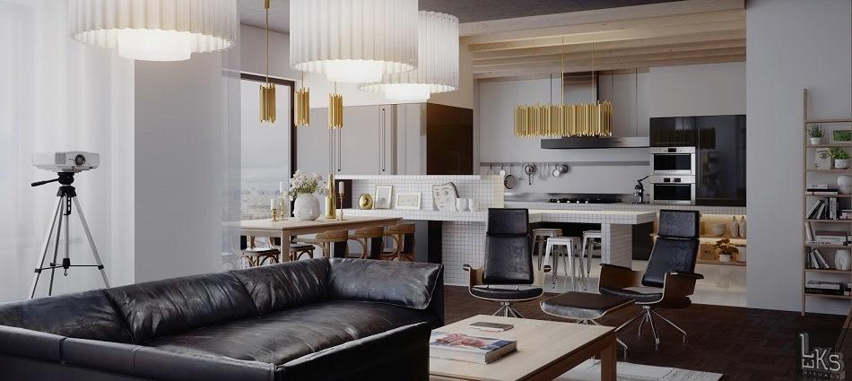 Интерьер современной квартиры от Leks Visuals ready 1 1