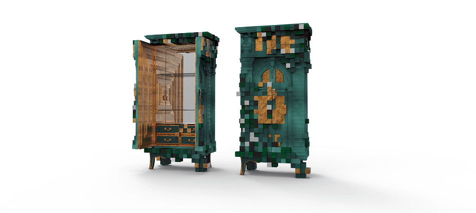 Футуристический дизайн от Boca do Lobo – шкаф Piccadilly piccadilly ecletic green cabinet boca do lobo 05 1