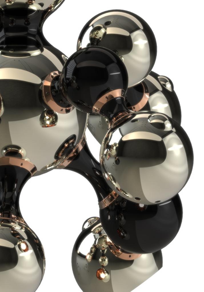 Современные светильники  Современный светильник Atomic от бренда Delightfull multi light sculptural sphere pendant chandelier 03