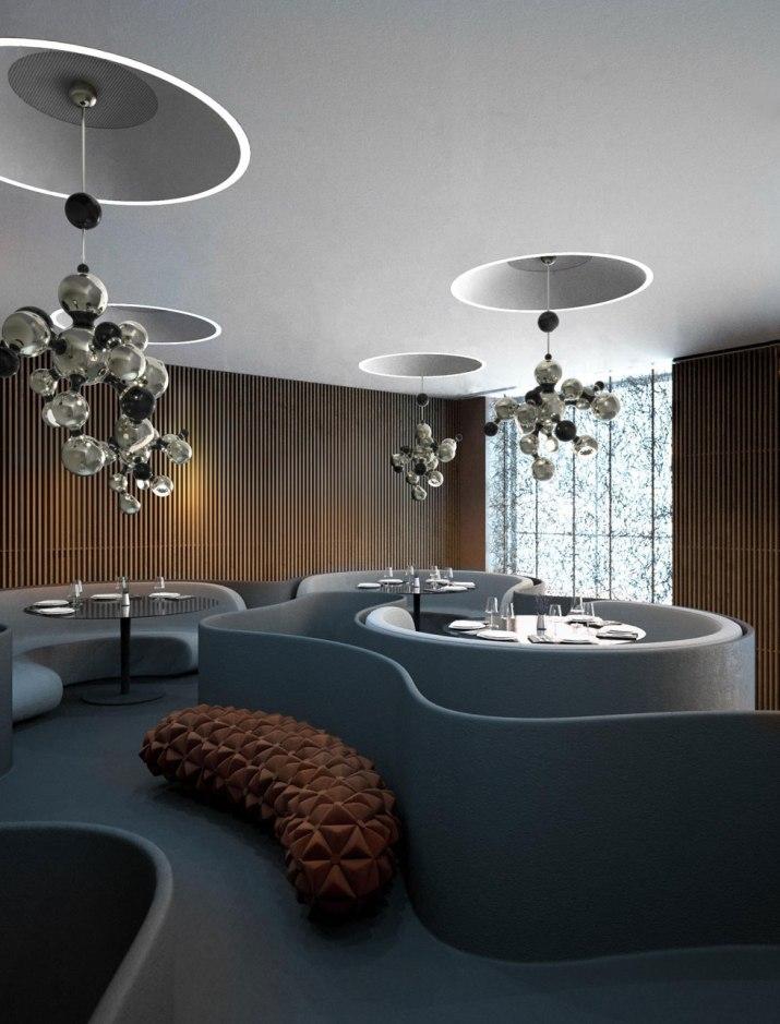 Современные светильники  Современный светильник Atomic от бренда Delightfull multi light sculptural sphere pendant chandelier 05