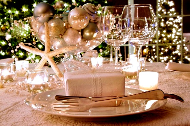 Новогодняя сервировка стола  – создайте праздник в вашем доме! dining room christmas decorating ideas 2