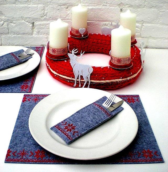 Новогодняя сервировка стола  – создайте праздник в вашем доме! prazdnichnaya servirovka stola 166966