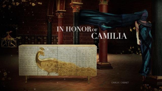 JANET MORAIS — изысканный современный дизайнер camilia cabinet