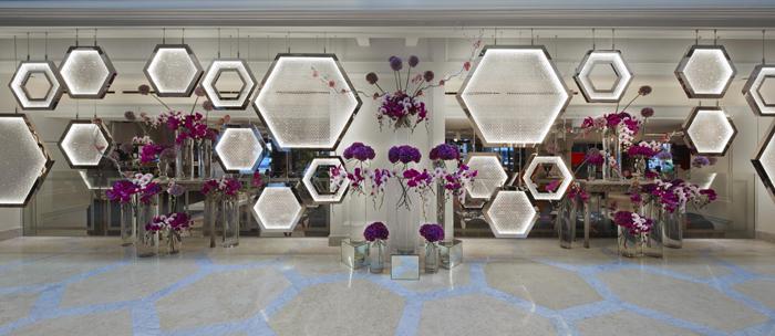 Artwork Main Lobby Installation - Hexagon by MIAJA with Lasvit
