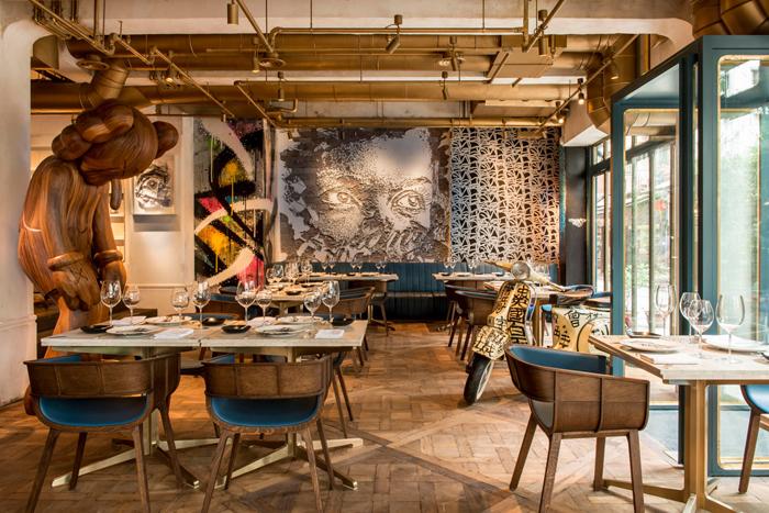 Элитный Французский ресторан в богемном стиле_3