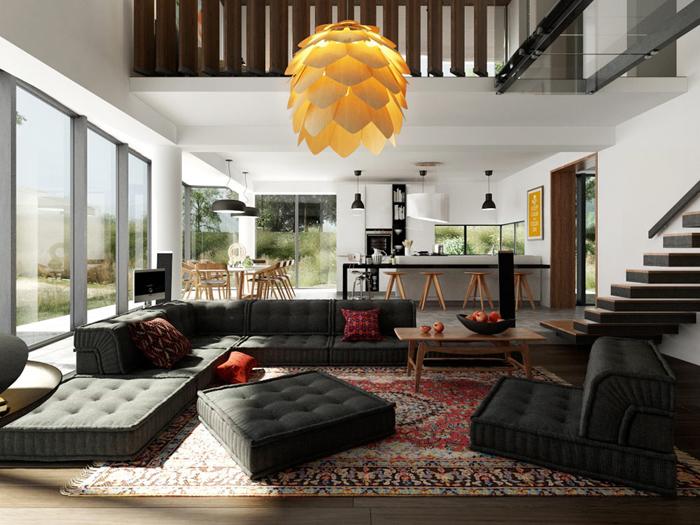 Потрясающие декоративные диваны для гостиной_02
