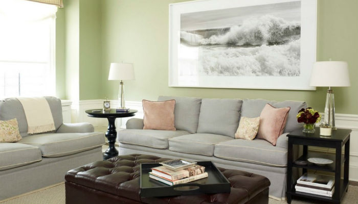 Очарование зелёного: идеи для гостиных