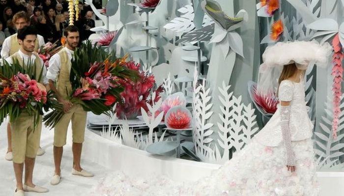 Показ Chanel Haute Couture. Весна - лето 2015
